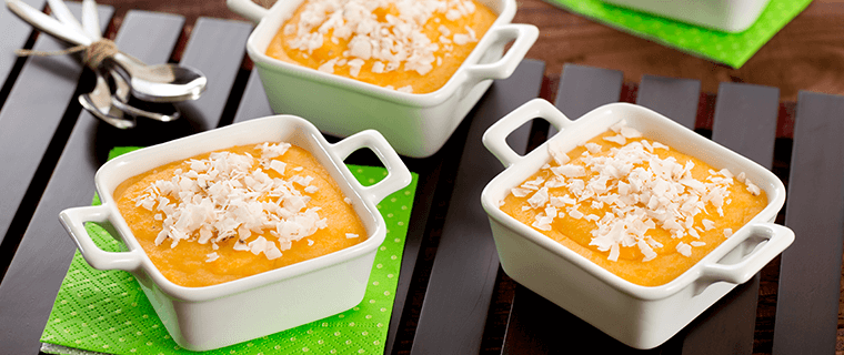 Pumpkin and Coconut Corn Pudding