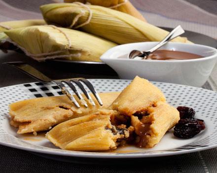 Humitas dulces de Choclo