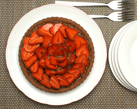 Pie De Fresas Y Chocolate