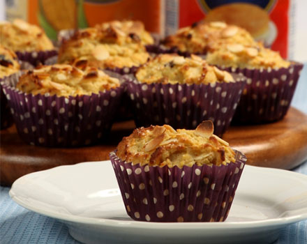 Muffins de maíz y frutas