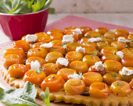 Tarte Tatin de Tomates Cherry