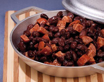 Relleno de Caraotas Negras y Chorizo